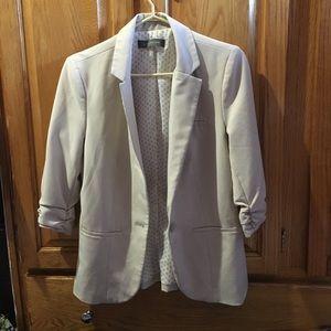 Jackets & Blazers - Suzy shirt cream colour Blazer